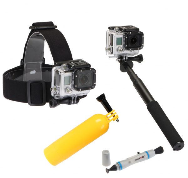 4pc Action Camera Kit