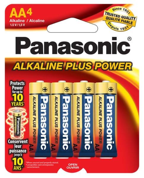 Panasonic Alkaline AA 4 Pack