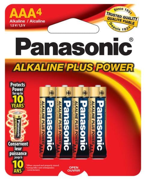 Panasonic Alkaline AAA 4-pack