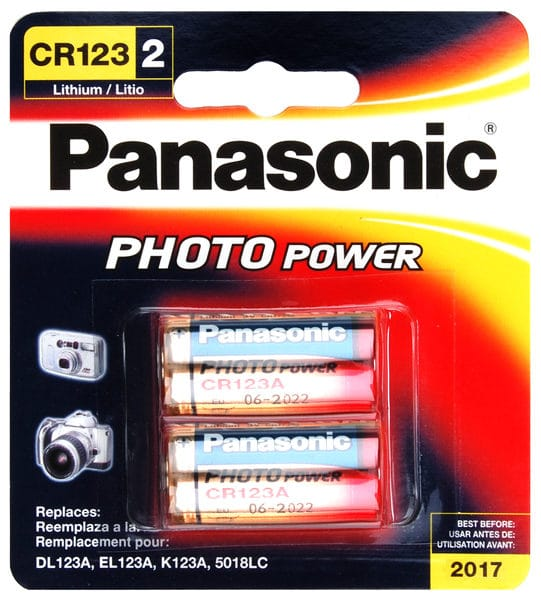 Panasonic CR123A Lithium 2 Pack