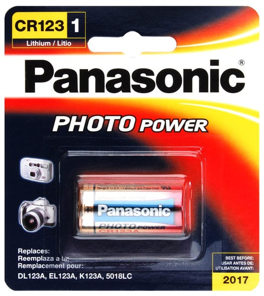 Panasonic CR123A Lithium 1 Pack