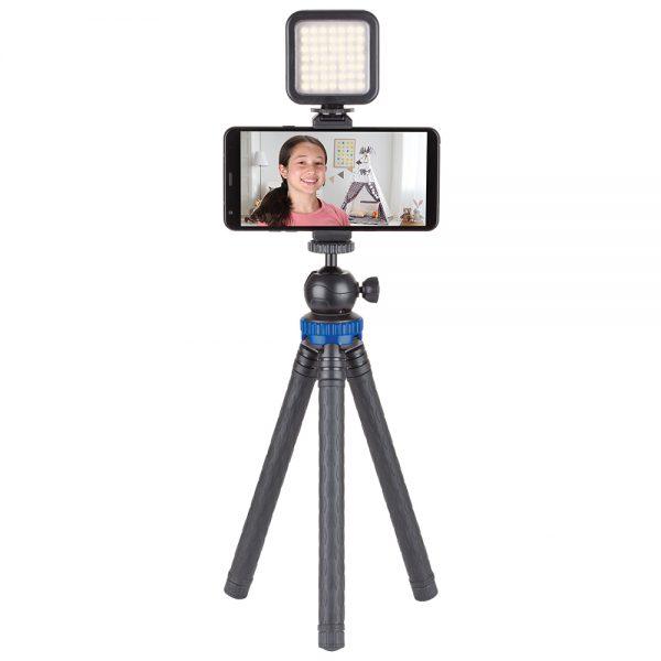 Sunpak YouTuber Vlogging Kit with 49 LED Video Light